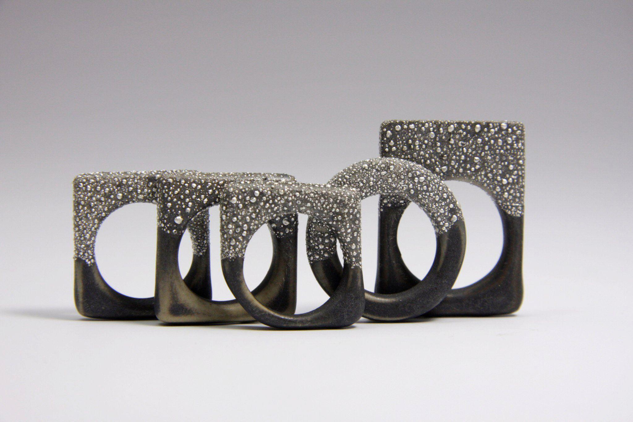 Violaine Ulmer - céramique, argent - rings