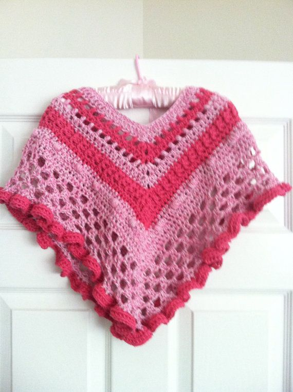 Pink a Boo Girls Poncho and Hat CROCHET por TiggztooPatterns ...