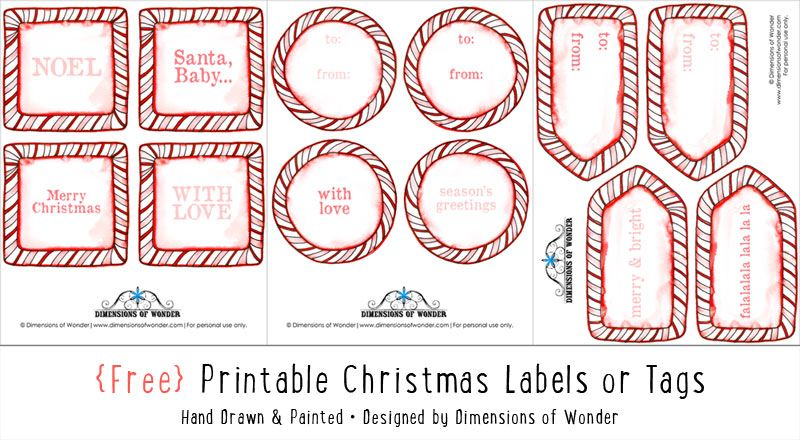 Christmas tags free printable candy cane borders dimensions of christmas tags free printable candy cane borders dimensions of wonder negle Gallery