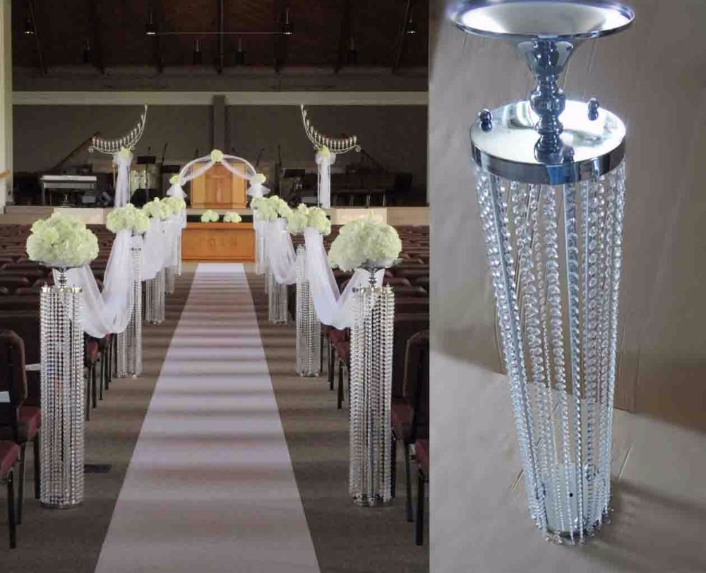 Wedding Props 120cmh Crystal Road Lead Beatiful Crystal Pillars