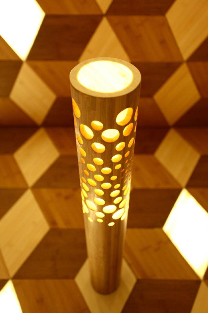 dekoideen bambusdeko wohnideen holzdeko raumtrenner teppich