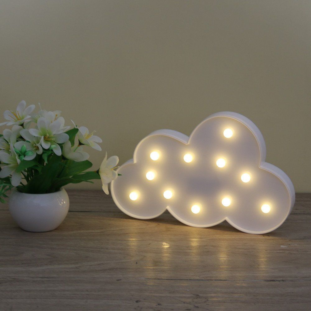 3d festzelt wolke nachtlampe mit 11led batteriebetriebene wei en wolke brief licht f r. Black Bedroom Furniture Sets. Home Design Ideas