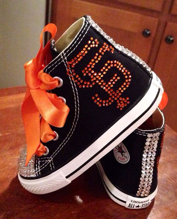 Hey, I found this really awesome Etsy listing at https://www.etsy.com/listing/190937347/san-francisco-giants-bling-converse