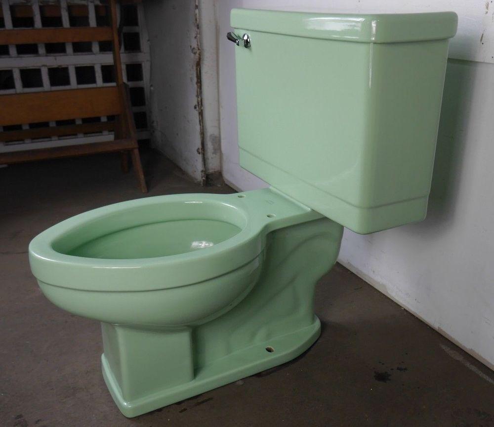 Antique toilet chair - Antique Vintage Crane Drexel Toilet 1950 S Pastel Green Crane