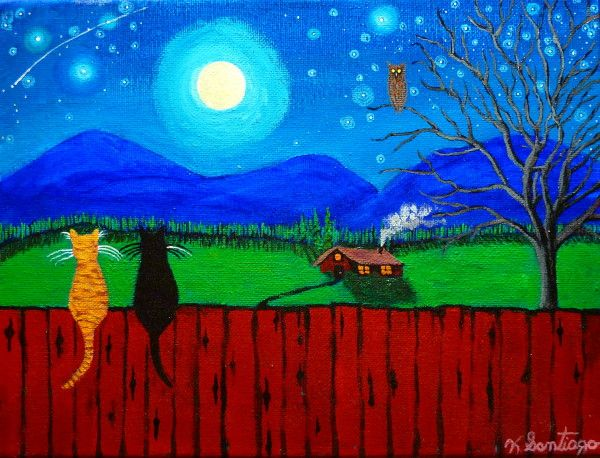 2 Cats on a Fence