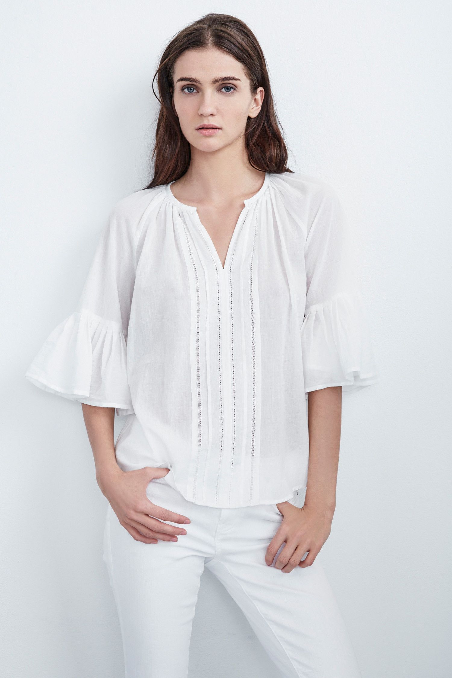 CELINA SUMMER VOILE PLEATED TOP IN CREAM (With images ...