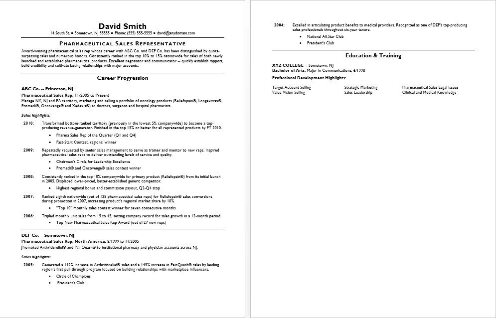 this pharmaceutical sales resume sample shows how you can