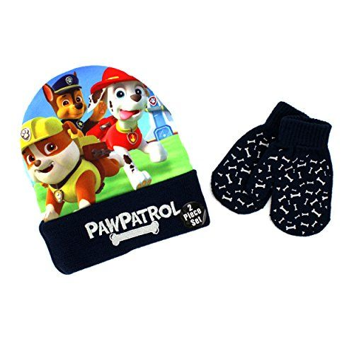 219fd0431 Nickelodeon Paw Patrol Toddler Boys Hat and Mittens Set (Choose your ...