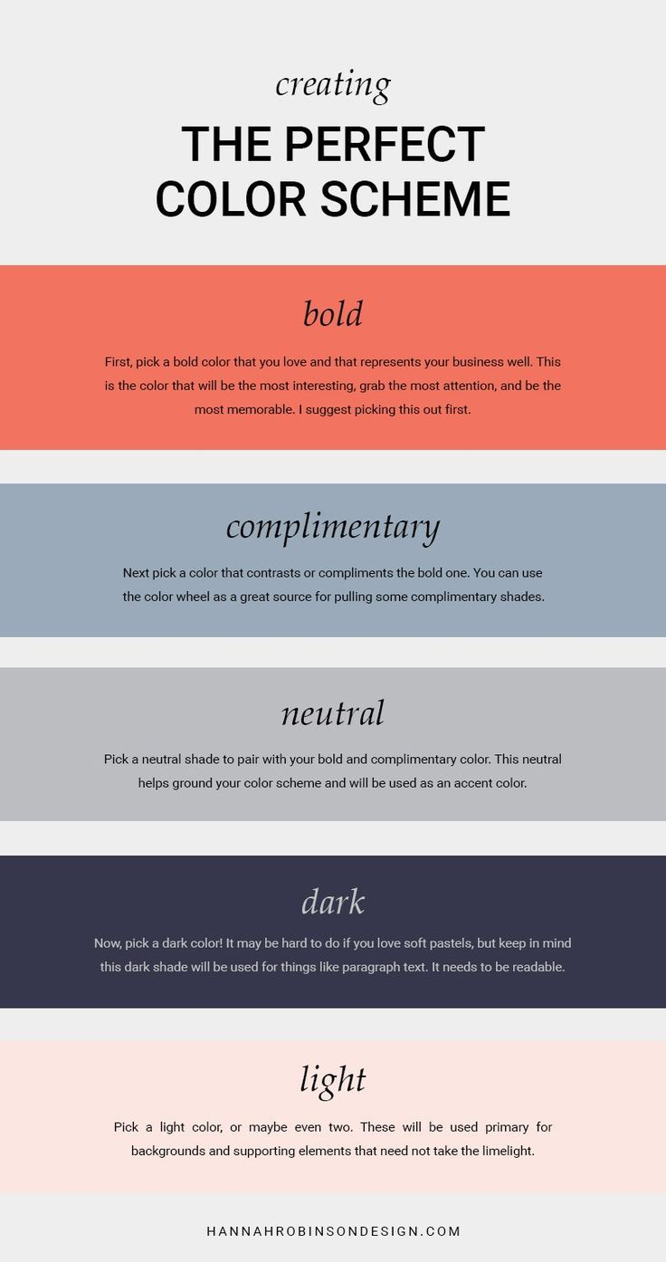How To Create The Perfect Color Scheme