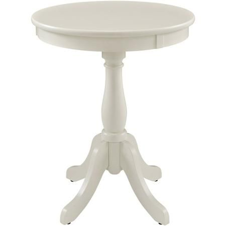 Display A Bouquet Of Fresh Blooms Or Cherished Family Photos Atop This  Eye Catching Side Table, Showcasing A Pedestal Base And Crisp White Finish.