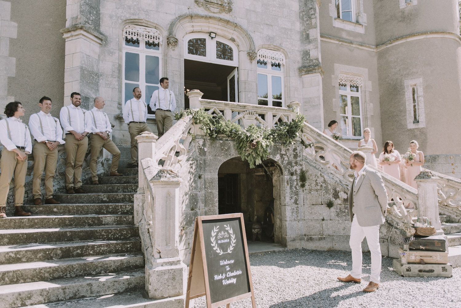 Escape To The Chateau Vintage Wedding In The Chateau De La Motte Husson Chateau Chateau Style Angel Strawbridge