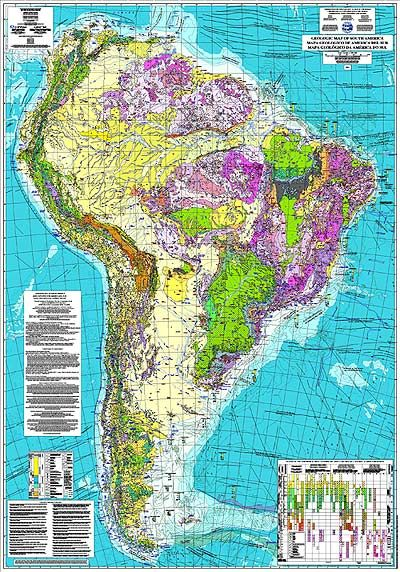 Geological Map Of South America Landkarte