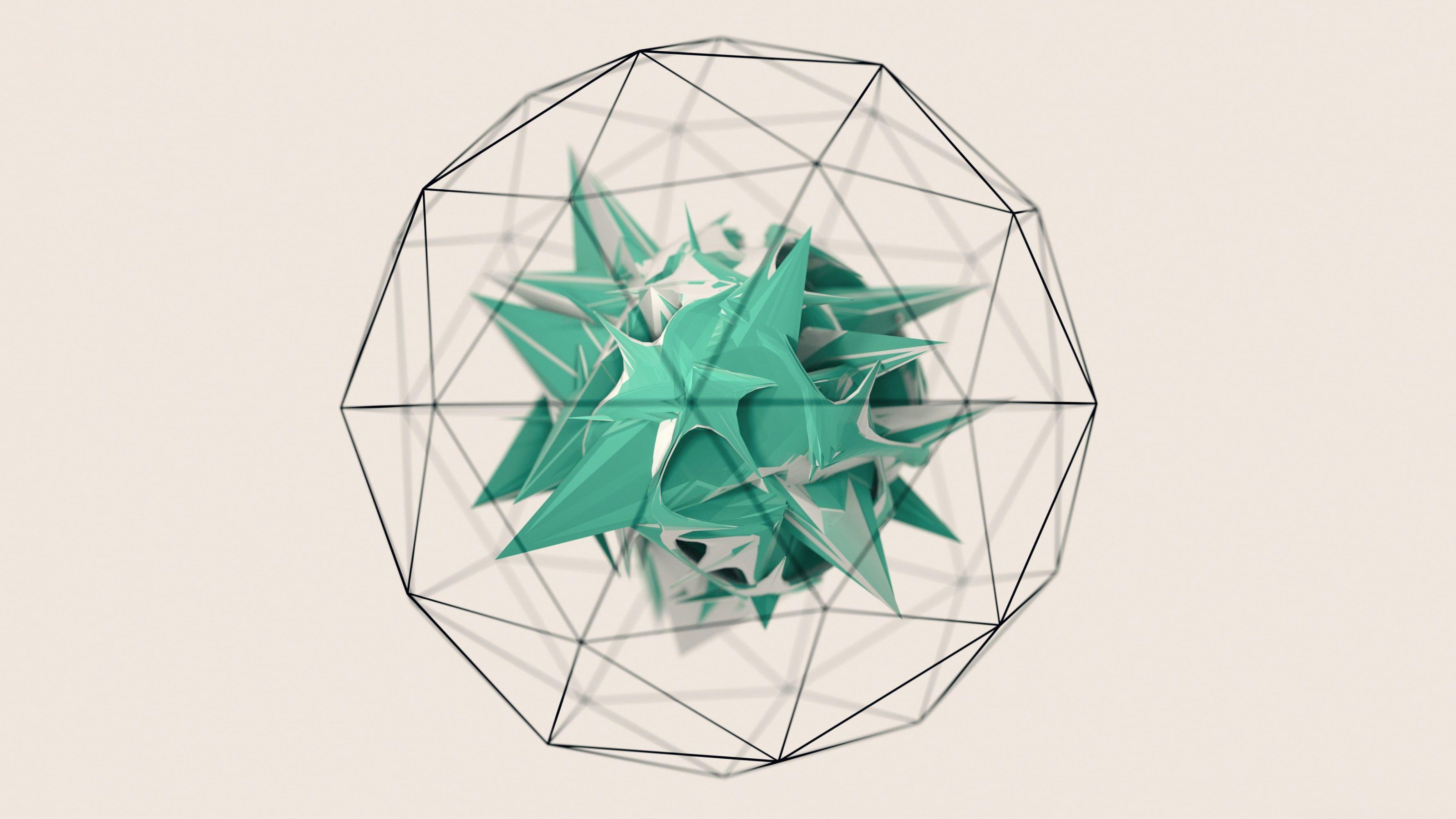 geometry minimalism low poly 2K wallpaper hdwallpaper