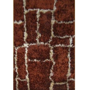 Buy Rugsville Silky Shag Rust Rug 10928 for only $330.16 in Silk rugs at Rugsville.com