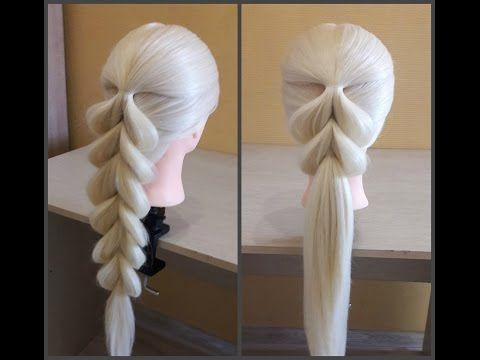 Косичка из пяти прядей. Обычный способ. Five strand braid - YouTube #hairtutorials