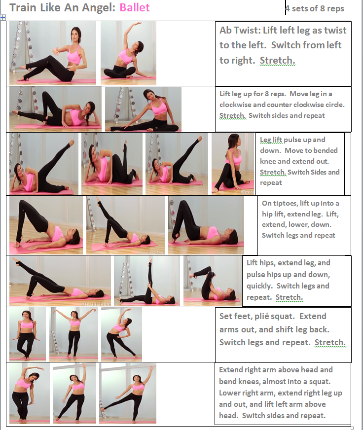 Train Like An Angel Lily Ballet Workout Ballet Performers Fit Board Workouts Victoria Secret Workout Pilates