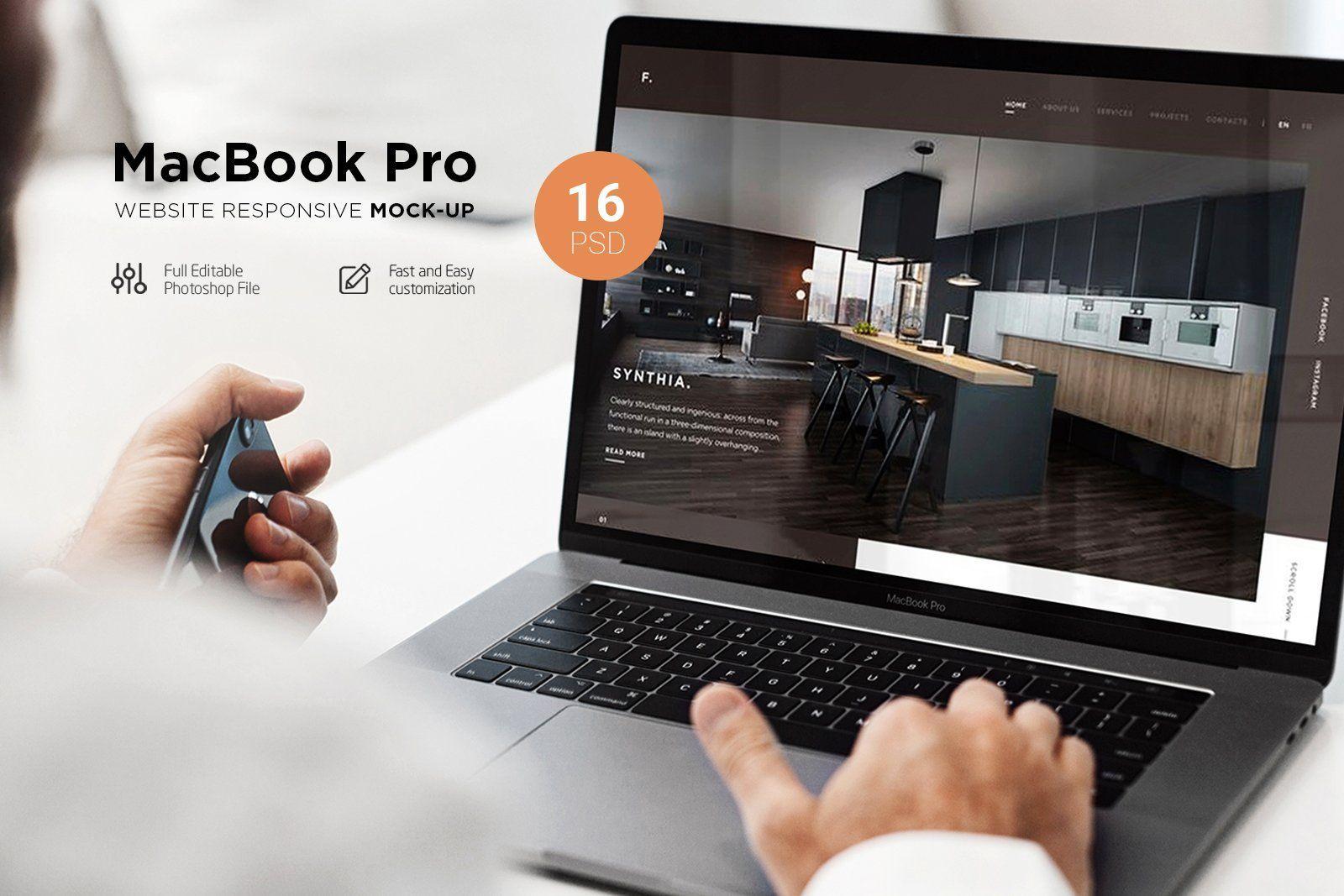 Macbook Pro Responsive Mock Up Macbook Pro Mockup Macbook