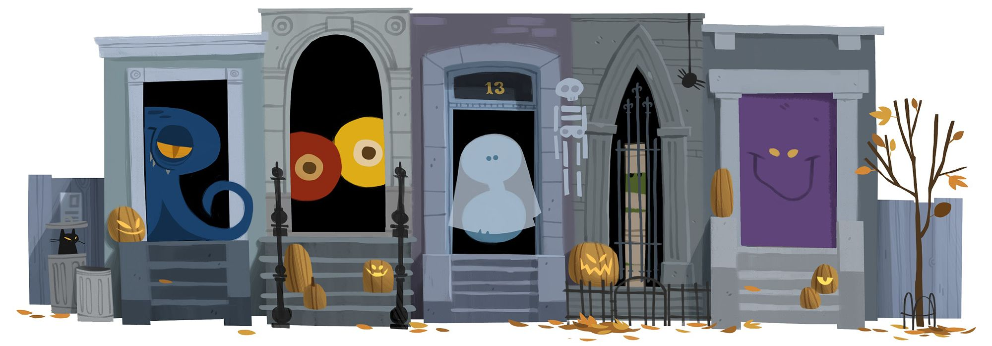 Halloween 2012 [Хеллоуин] /This doodle was shown 31.10