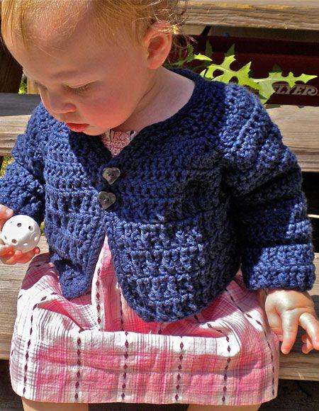 Rustic Raglan Crochet Baby Sweater - Knitting Patterns and Crochet ...