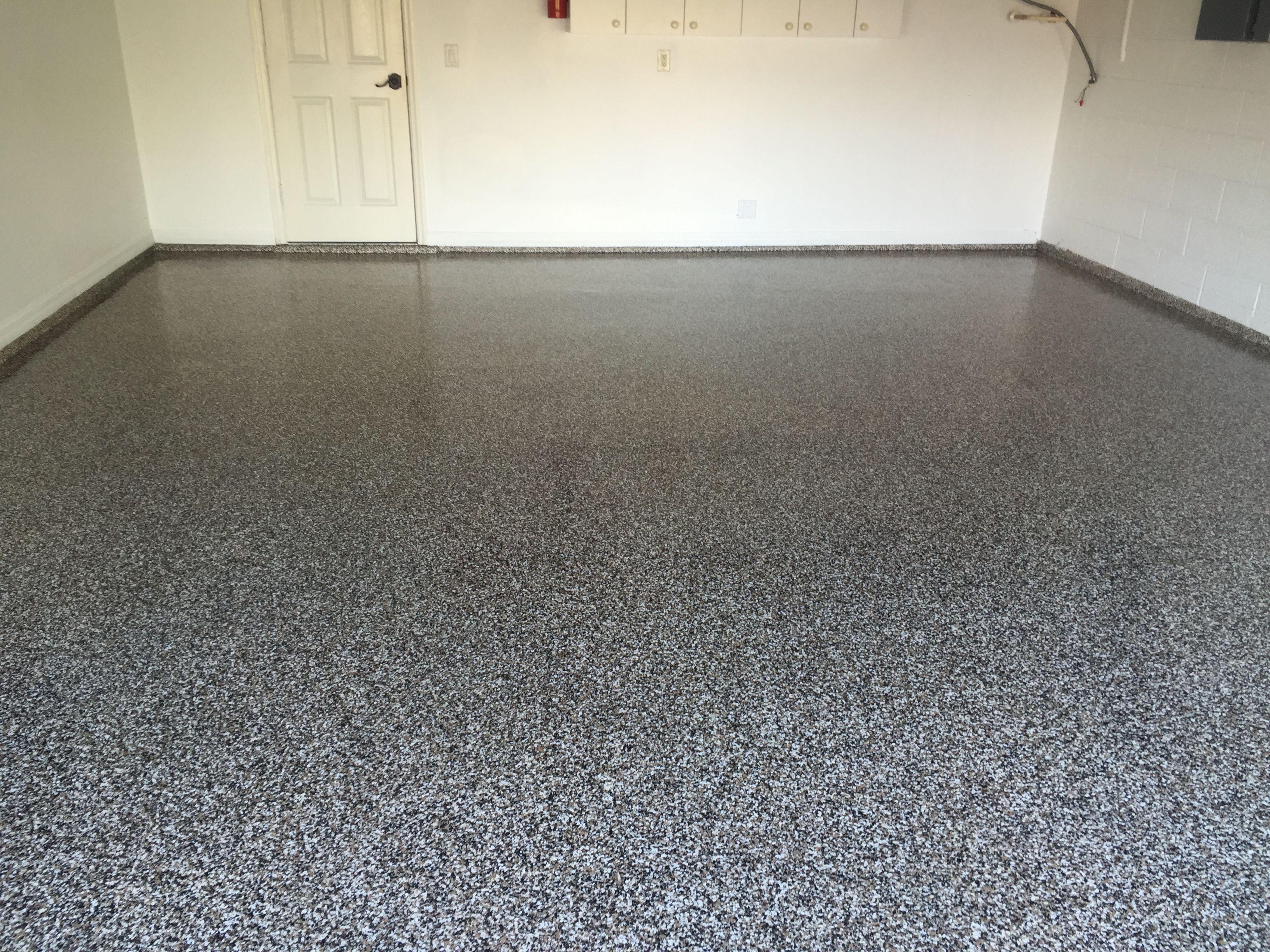 Full Flake Epoxy Floor Garage Garagefeet Decorative