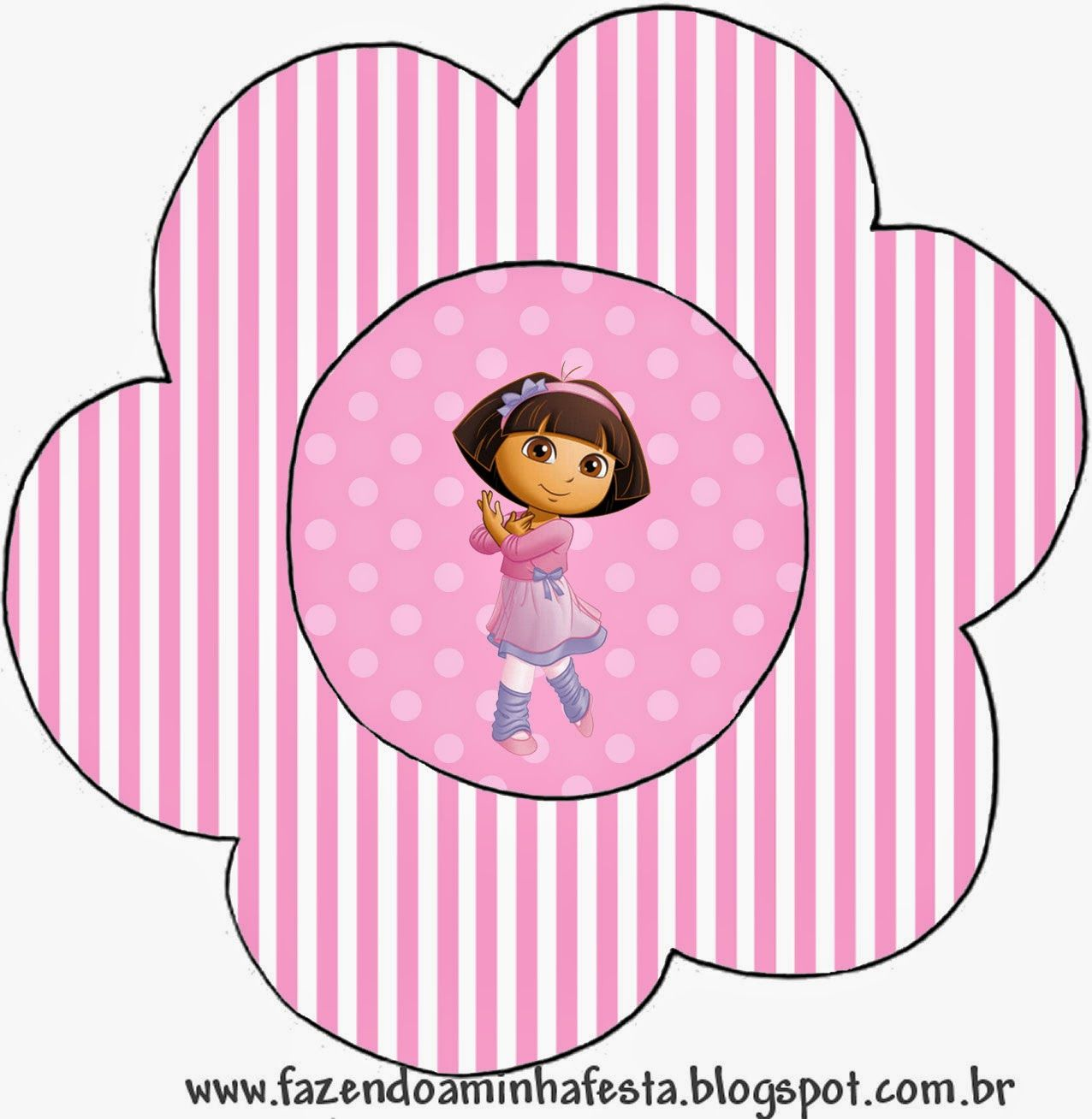 Dora Dancing Ballet Free Printable Invitations – Printable Dora Birthday Invitations