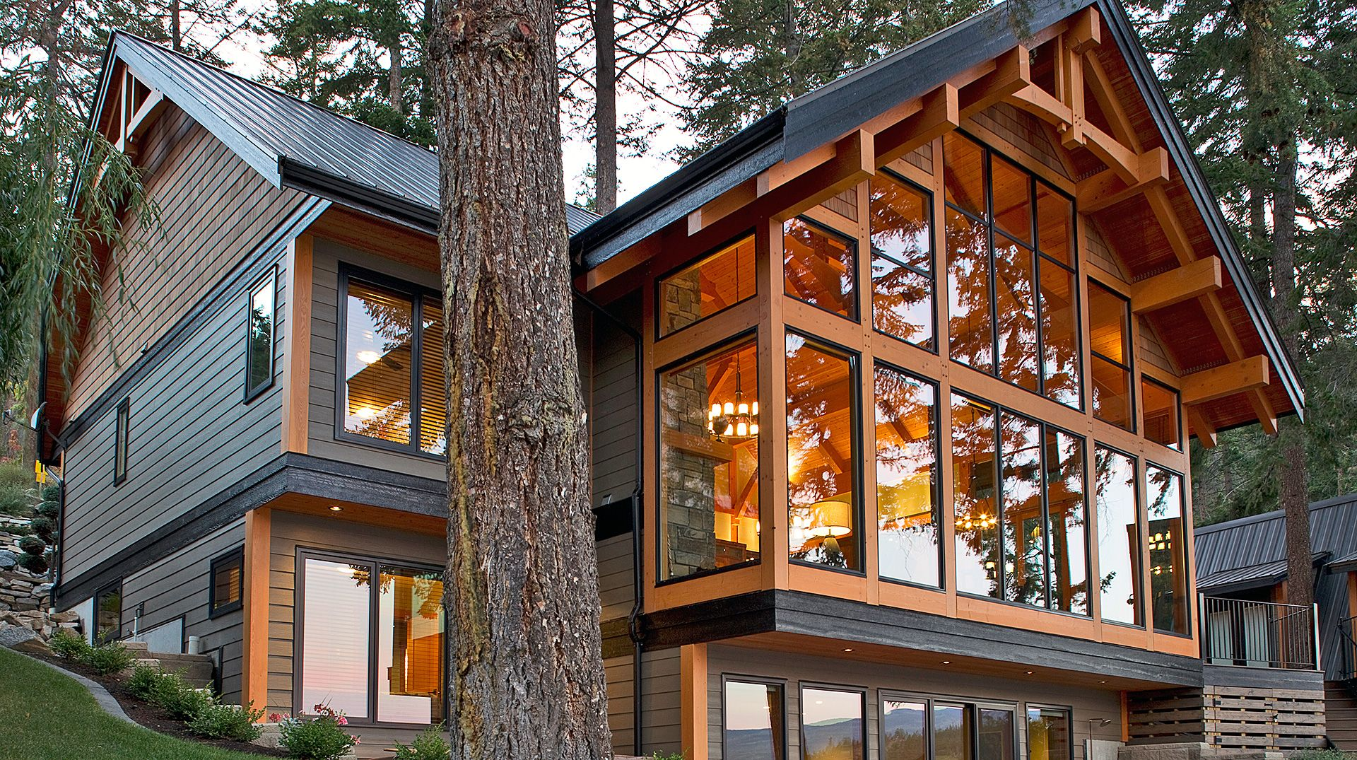 Little Shuswap Chalet Stone Cottages Architecture Lake Cabins