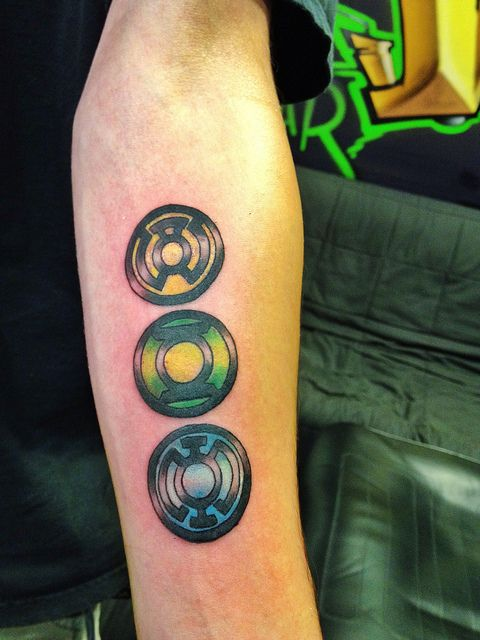 Green lantern tattoo by Wes Fortier by Wes Fortier, via Flickr