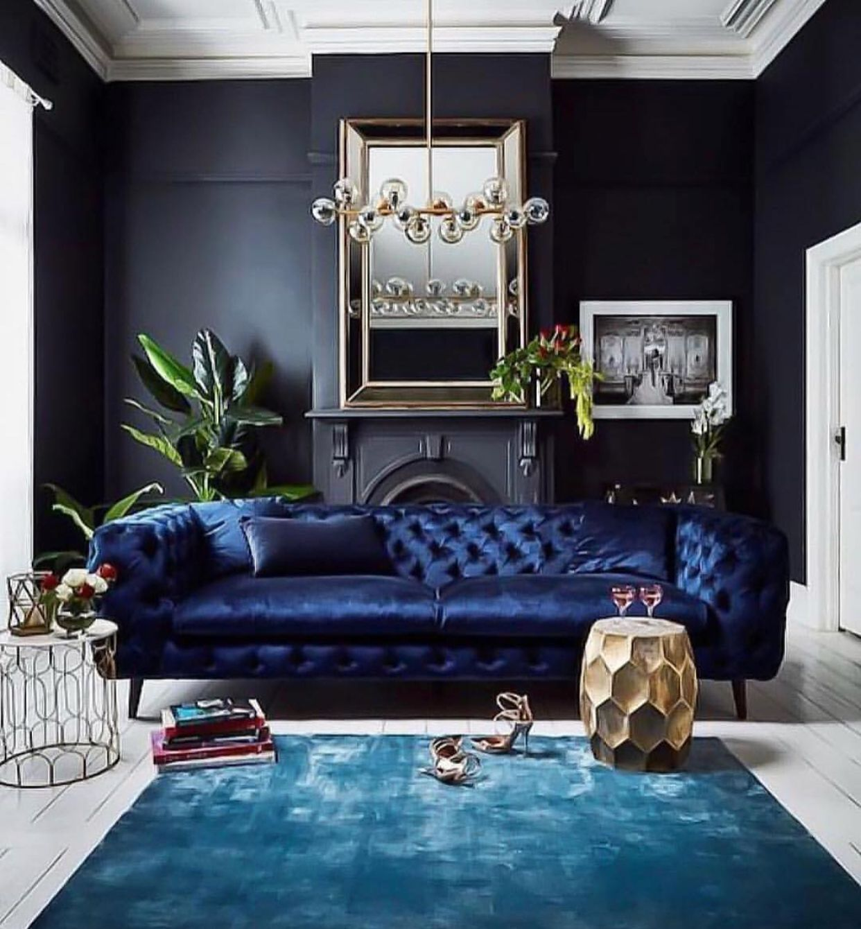 Best Black Living Room With Sapphire Furnishings Black Living 400 x 300