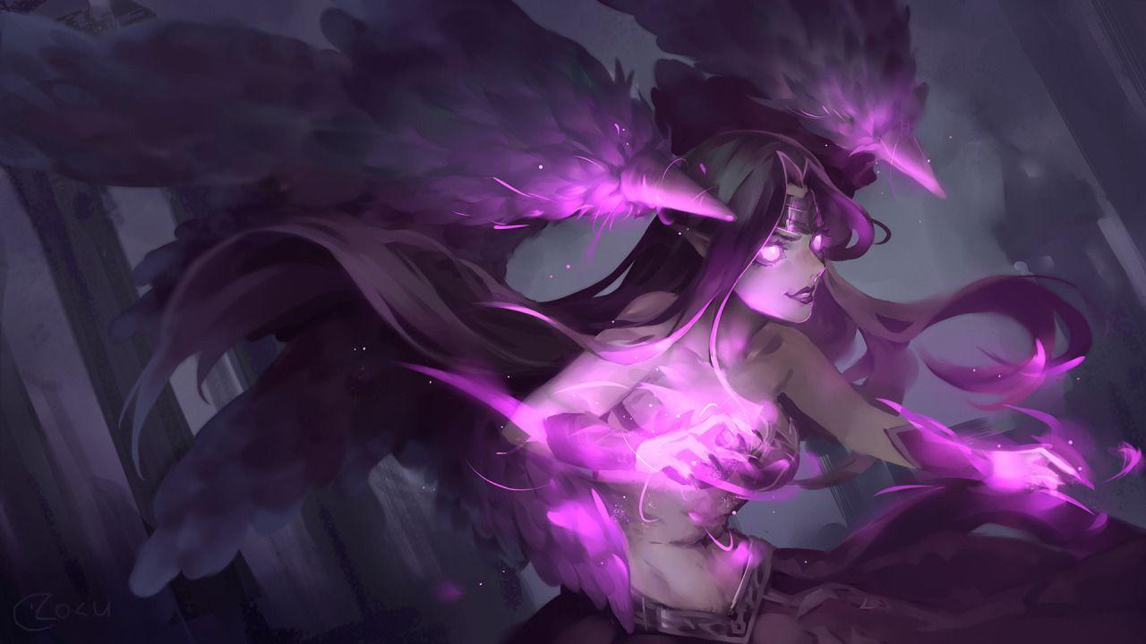 Ysurio League Of Legends Art Source Https Www Artstation Com Artwork Morgana Lol League Of Legends League Of Legends League Of Legends Characters
