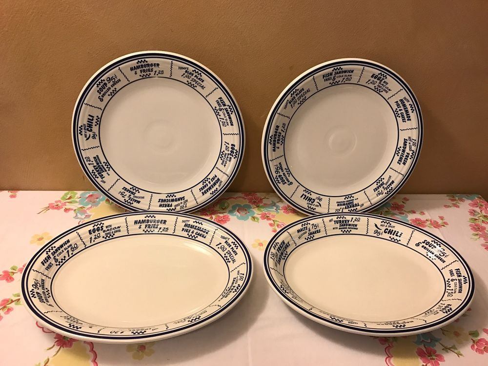 Contemporary Fiesta China \u0026 Dinnerware | eBay & Fiesta® Dinnerware blue and white Diner plates and platters. Made by ...