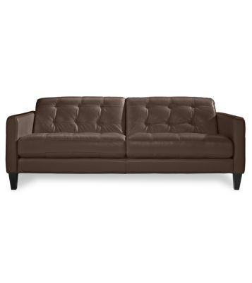 Milan Leather Sofa Furniture Macy S Living Room