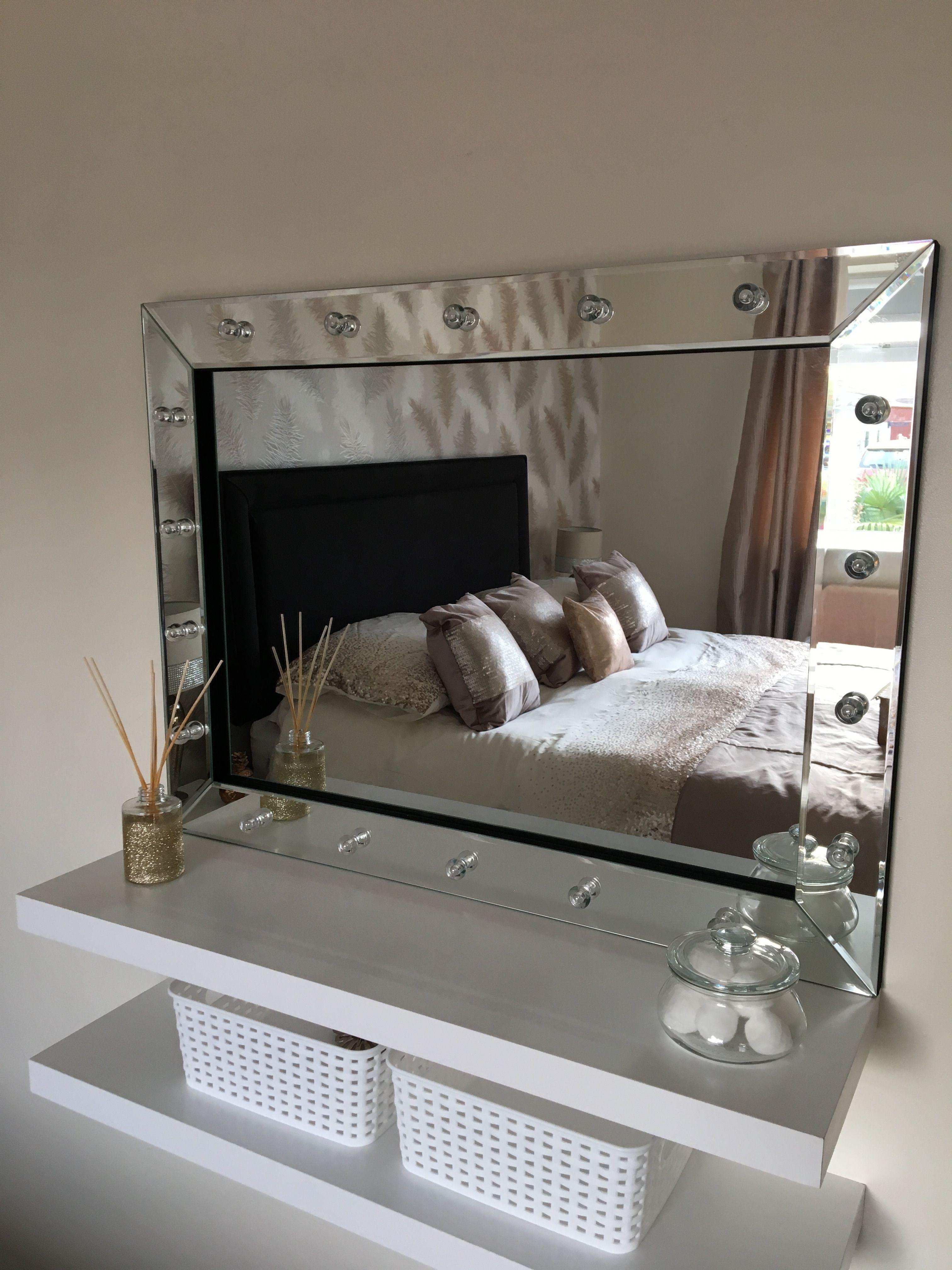 Shelves dressing table mirror vanity dresser mirror shelves