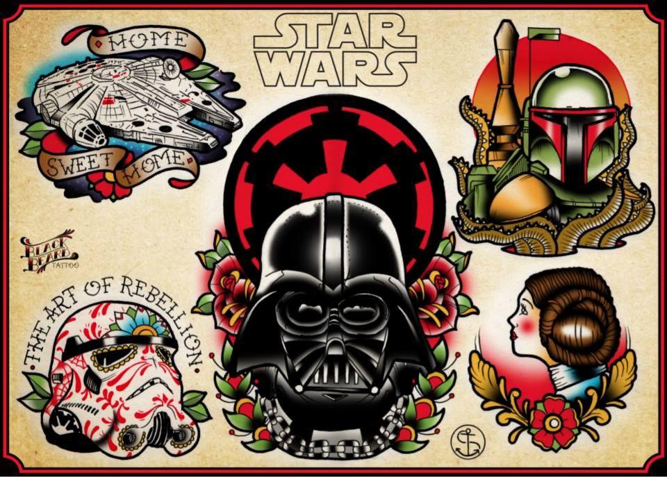 star wars tattoo flash mis flash pinterest star wars