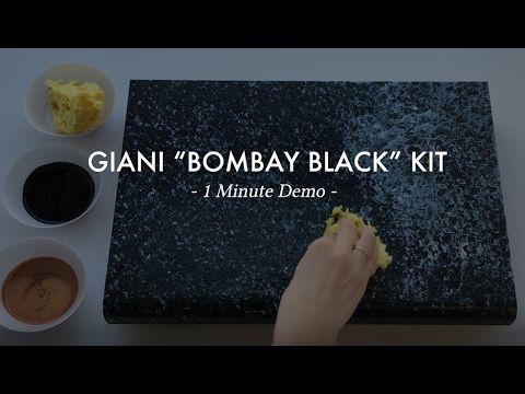 Giani Bombay Black Small Project Paint Kit Black Granite