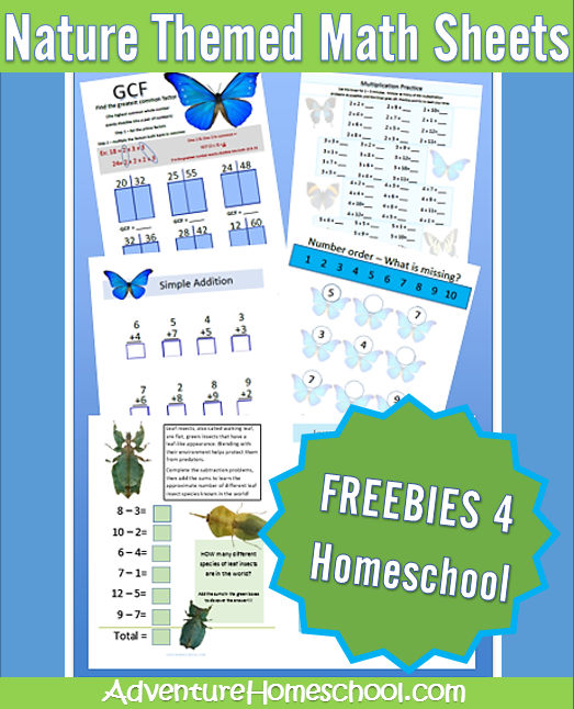 Free Math Worksheets Nature Themed Free Math Worksheets Free Math Math Worksheets