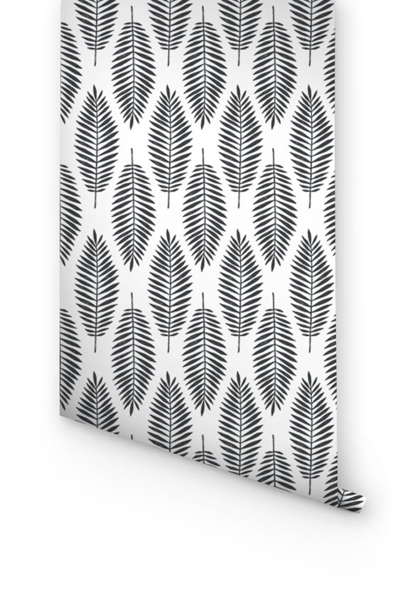 Black And White Removable Wallpaper Peel And Stick Wallpaper Etsy Peel And Stick Wallpaper Grey Wallpaper Removable Wallpaper