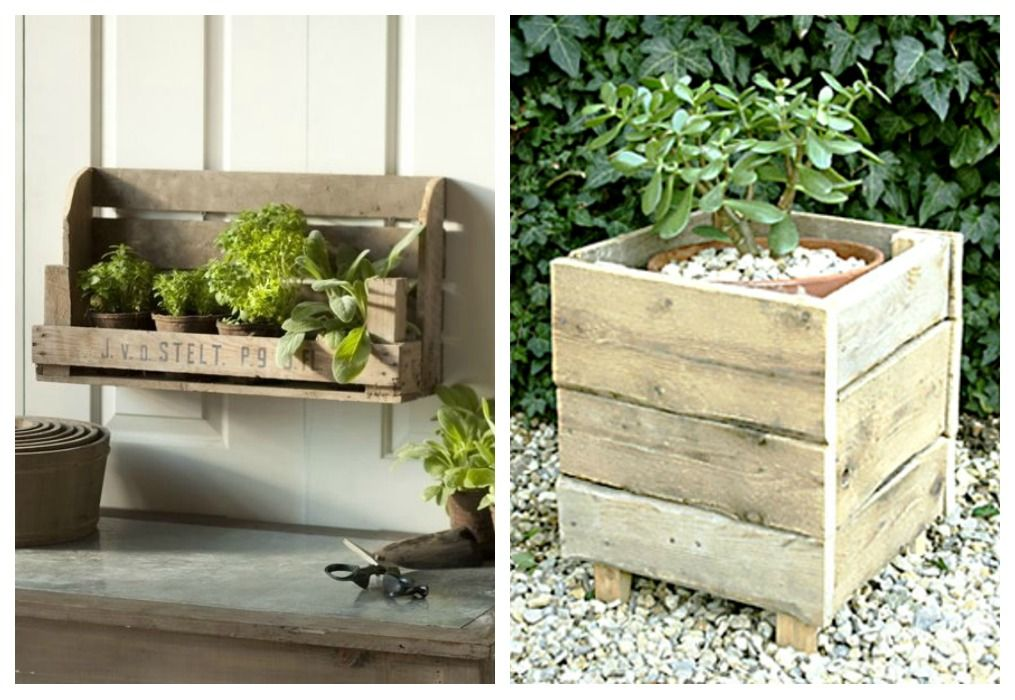 #28. THE CLASSICAL WOODEN PLANTER - The Most Beautiful 101 DIY Pallet Projects To Take On