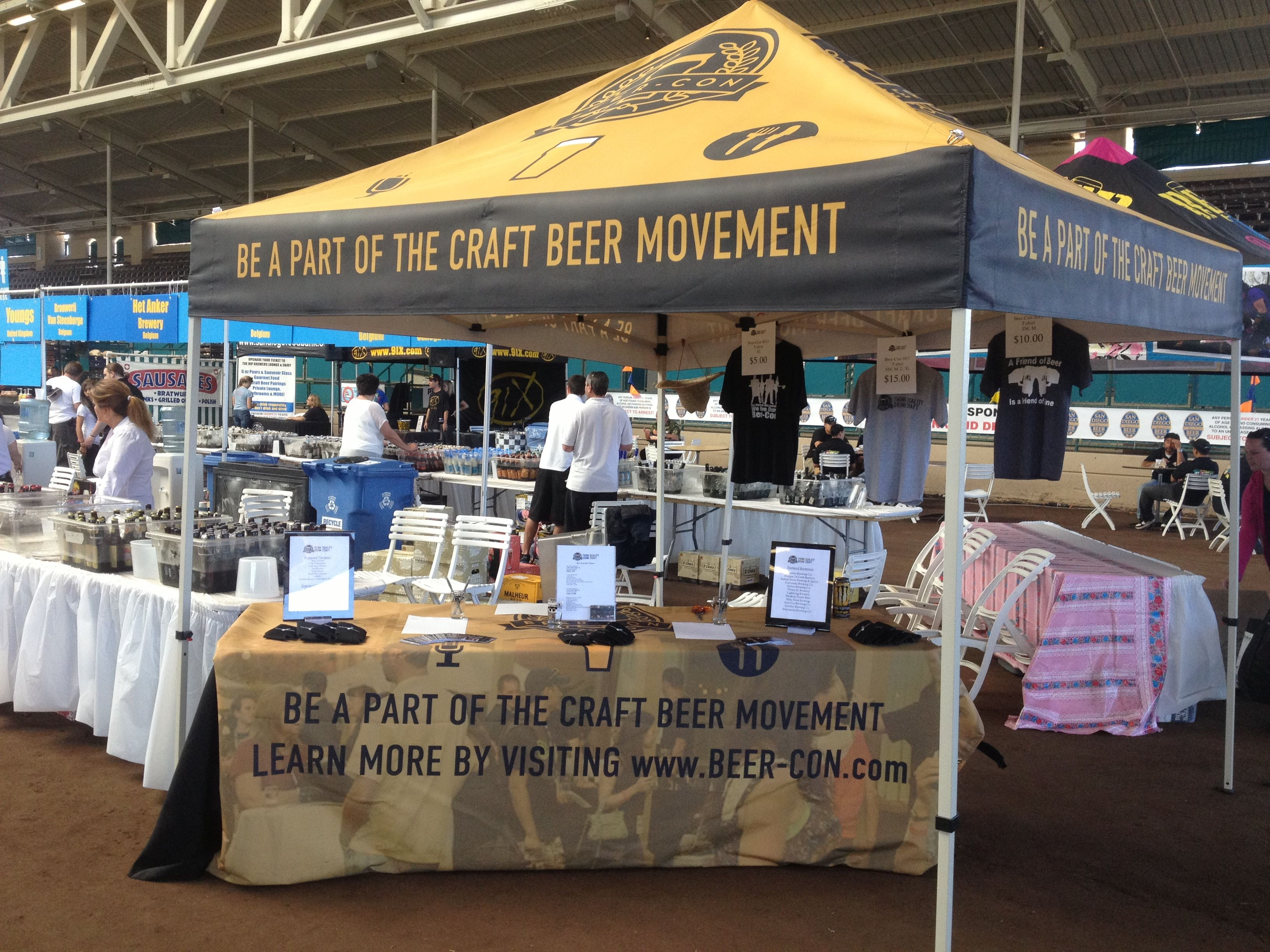 Booth Set Up At Sdfair International Beer Festival