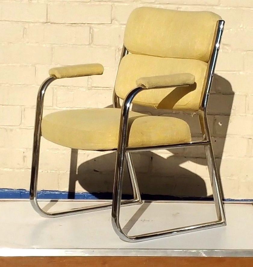 Mid Century Modern Cantilevered Chrome Chairs ~ 5 avail in Antiques, Periods & Styles, Mid-Century Modernism | eBay