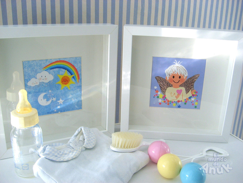 Los papás de Mario ya lo tienen todo preparado. También los cuadros para su habitación con láminas de El Mundo de Anuk.