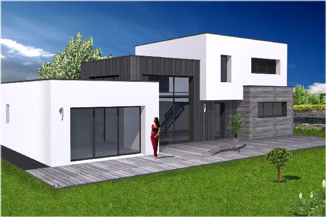 Photo maison contemporaine et il souffla sur la maison for Plans maisons contemporaines
