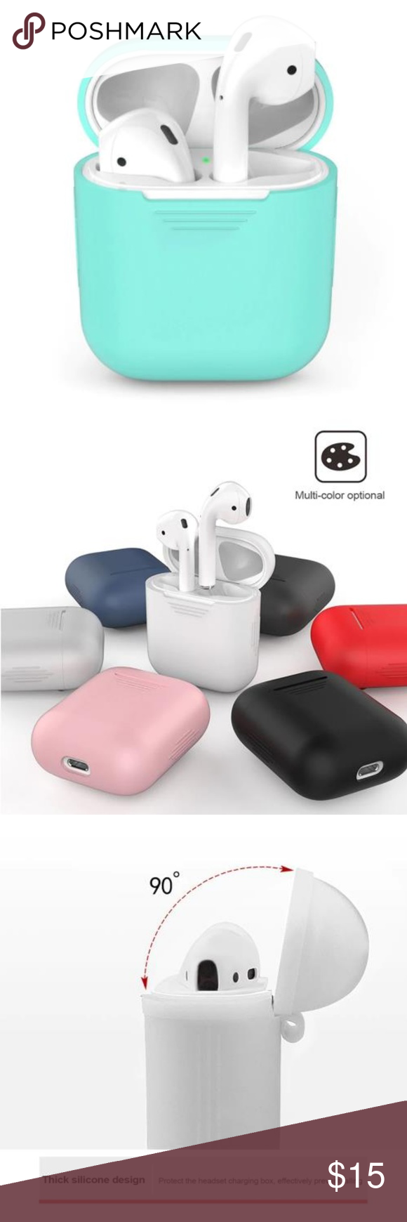 New Apple Airpods Soft Protective Case Boutique Clothes