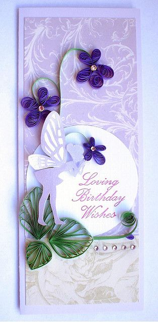 pretty quilled card