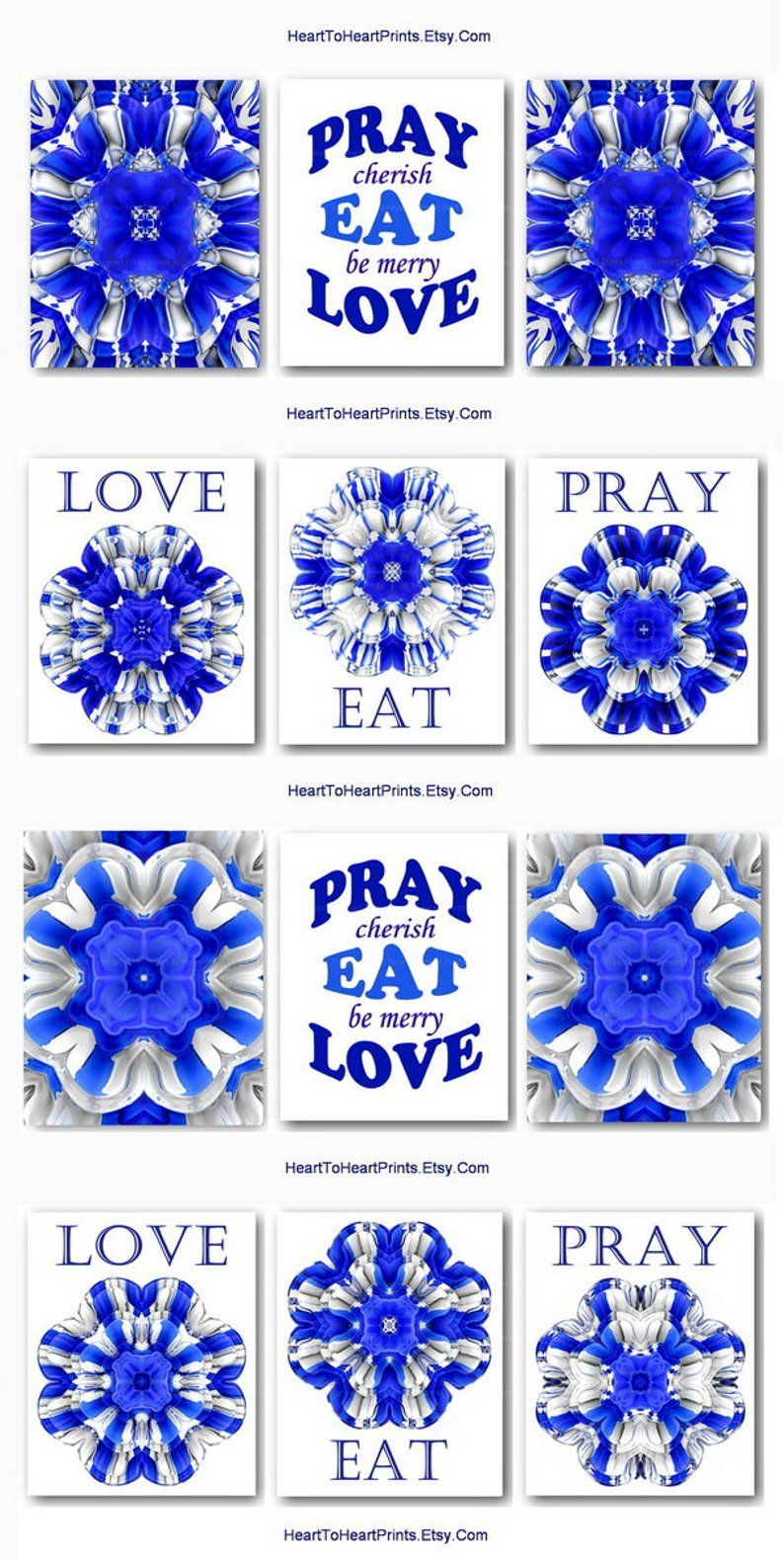 Best Blue Rustic Kitchen Wall Art Cobalt Blue Dining Room Wall 400 x 300