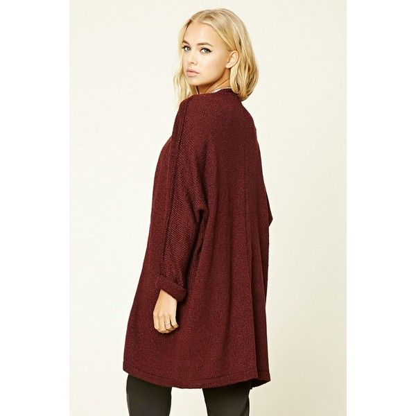 longline dolman cardigan (385 MXN) ❤ liked on Polyvore featuring ...