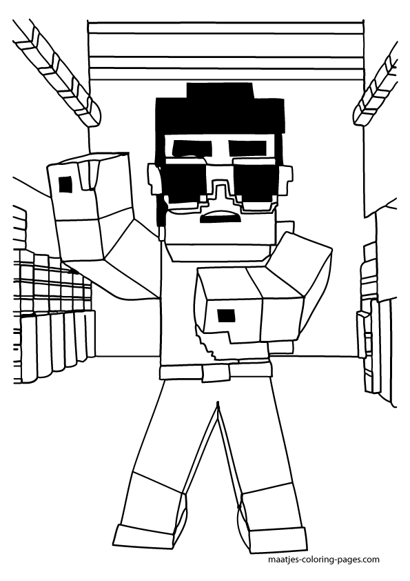 More Minecraft Coloring Pages On Maatjes