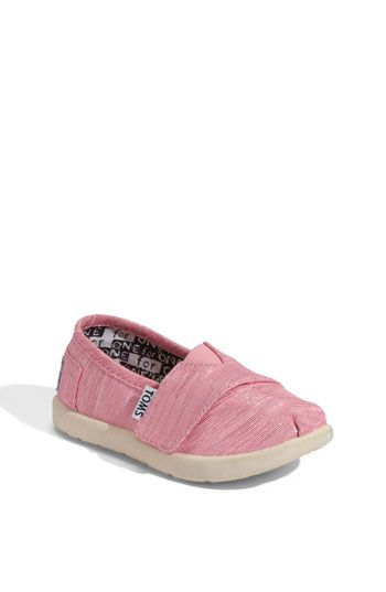 fbf9980179 Pink Toms. Wish I could get these in a slip-on in Jules' size. Apparently  Tom thinks toddlers wear size 11.