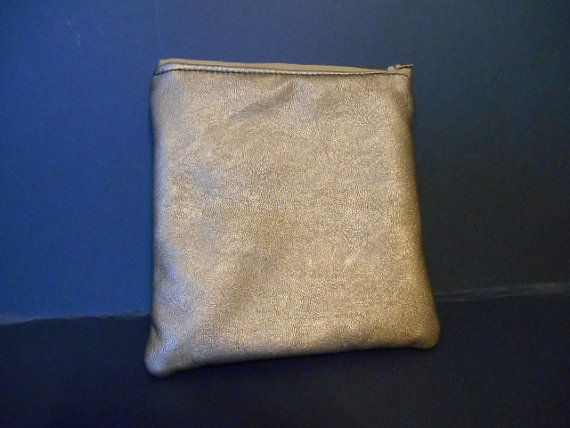 Faux Leather  Two Toned gold and copper  Make up by MadkDesigns, $9.99