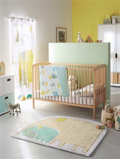 Tapis éléphants Thème Baby Jungle IMPRIME   Vertbaudet Enfant