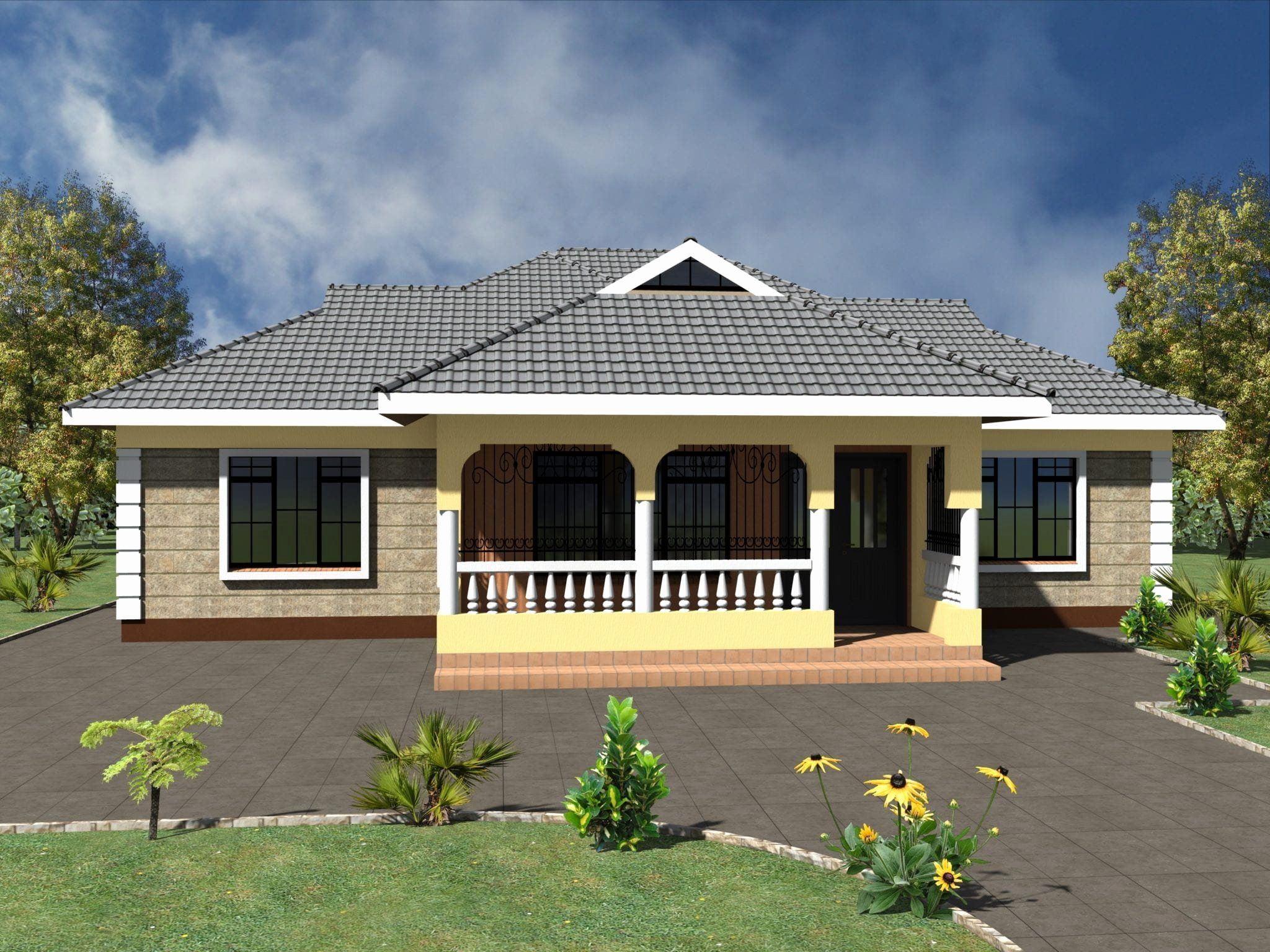 Simple Three Bedroomed House Plans Luxury Simple 3 Bedroom ...
